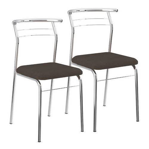 Conjunto 2 Cadeiras Cromada para Cozinha 1708 Carraro