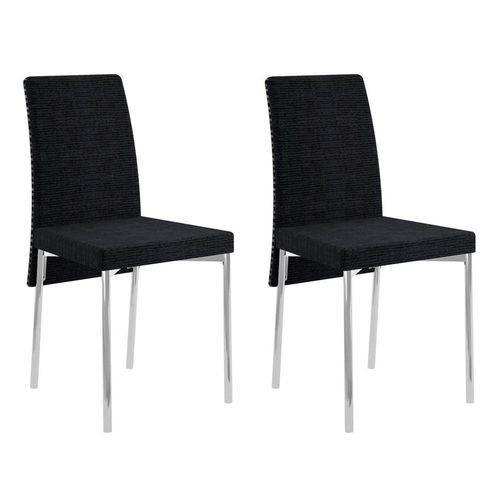 Conjunto 2 Cadeiras de Jantar 0306 Listrado Black