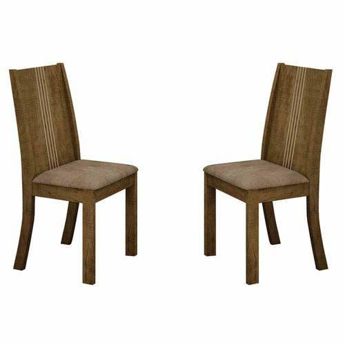 Conjunto 2 Cadeiras de Jantar Vitória Animale Capuccino/ypê - Leifer Móveis