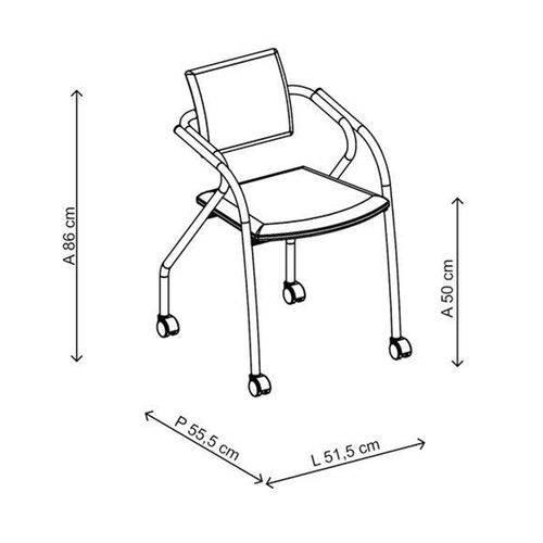 Conjunto 2 Cadeiras em Aço 171300005 Branco/cromado - Carraro
