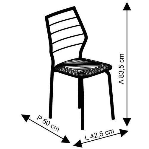 Conjunto 2 Cadeiras em Aço 171620901 Preto - Carraro