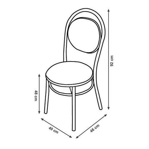 Conjunto 2 Cadeiras em Aço 19020670 Camurça Conhaque/cromado - Carraro