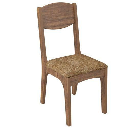 Conjunto 2 Cadeiras Estofada 100% Mdf Ca12 - Dalla Costa