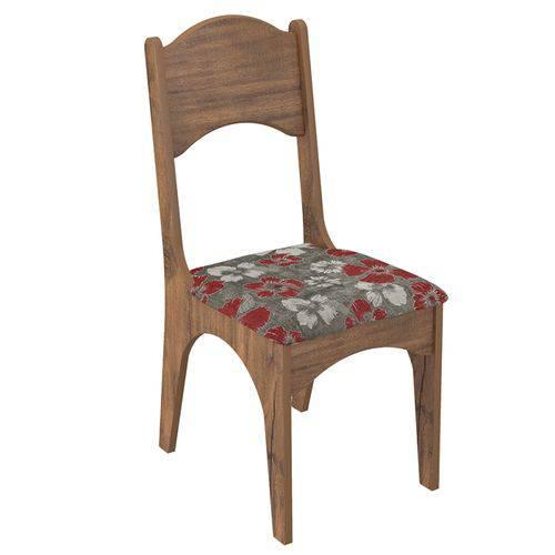 Conjunto 2 Cadeiras Estofada 100% Mdf Ca18- Dalla Costa