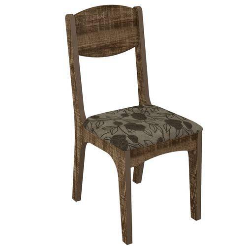 Conjunto 2 Cadeiras Estofada Floral 100% Mdf Ca12- Dalla Costa