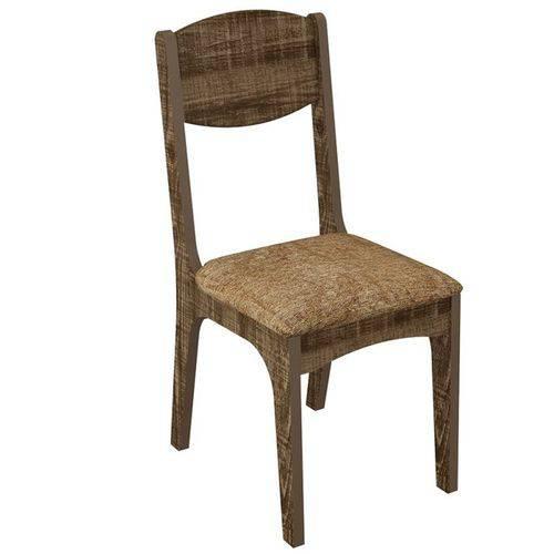Conjunto 2 Cadeiras Estofadas 100% Mdf Ca12- Dalla Costa
