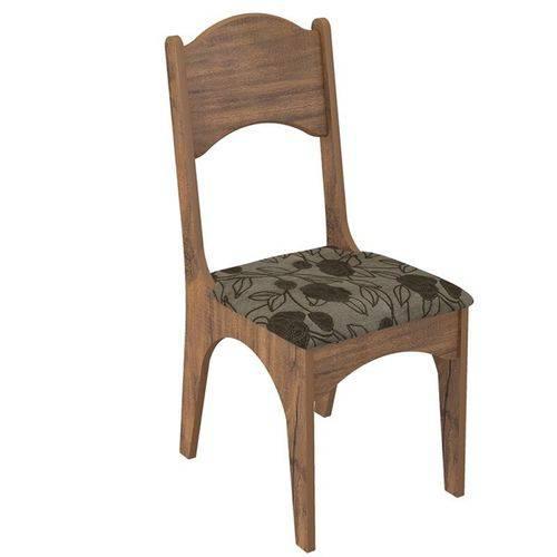 Conjunto 2 Cadeiras Estofadas Floral 100% Mdf Ca18 - Dalla Costa