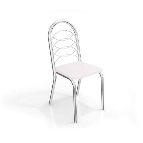Conjunto 2 Cadeiras Holanda Crome Cromado/Branco Kappesberg