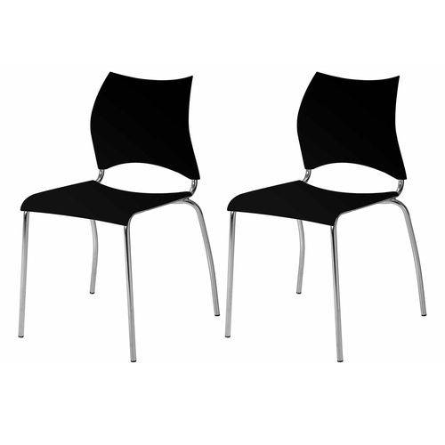 Conjunto 2 Cadeiras Júnior Carraro Preto
