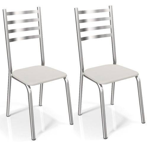 Conjunto 2 Cadeiras Kappesberg Crome Alemanha Ii Branco