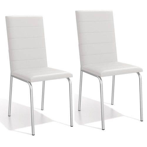 Conjunto 2 Cadeiras Kappesberg Crome Amsterdã II - Branco