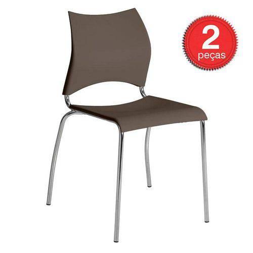 Conjunto 2 Cadeiras para Sala de Jantar 0357 Móveis Carraro