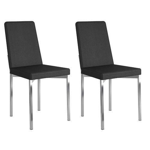Conjunto 2 Cadeiras Rui Carraro Courissimo Preto