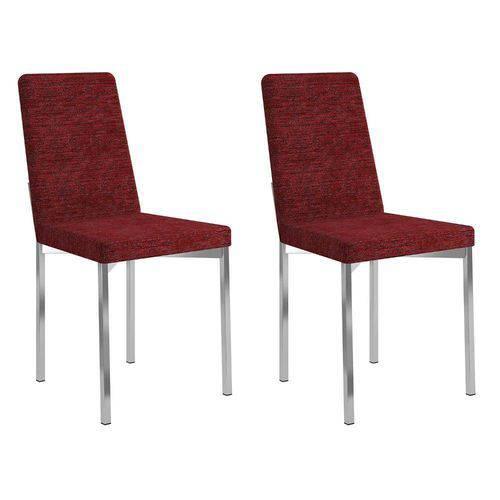 Conjunto 2 Cadeiras Rui Carraro Vermelho Fantasia
