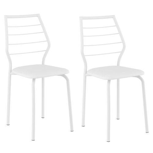 Conjunto 2 Cadeiras São Pedro Carraro Branco