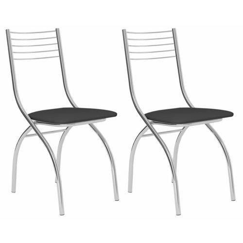 Conjunto 2 Cadeiras Tacchini Carraro Preto