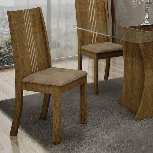 Conjunto 2 Cadeiras Vitória Animale Capuccino Ypê - Leifer