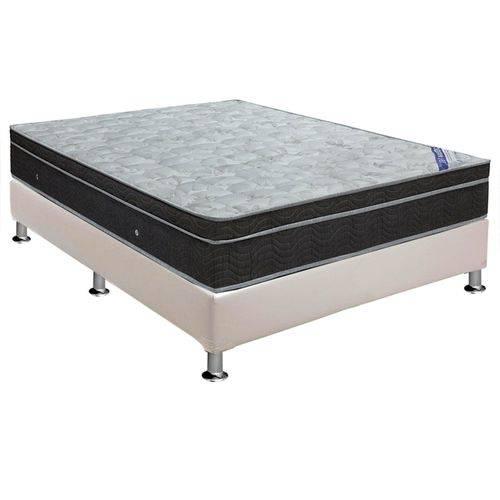 Conjunto Cama Box - Colchão Ortobom de Molas Nanolastic Light Selado + Cama Box Universal Couríno White - Casal 1,38x1,88
