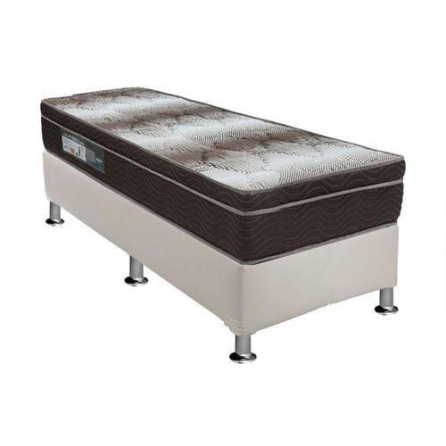 Conjunto Cama Box - Colchão Ortobom Ortopédico Light + Cama Box Universal Couríno White - Solteiro 0,88x1,88