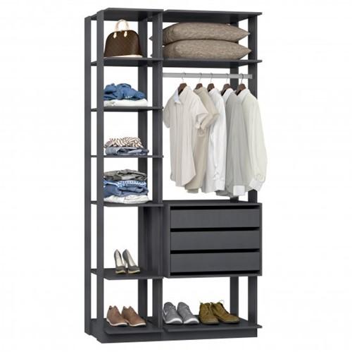 Conjunto Closet da Linha Clothes 9004 - Be Mobiliário Inteligente   Elare