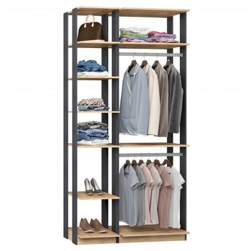 Conjunto Closet da Linha Clothes 9005 - BE Mobiliário Inteligente   Elare