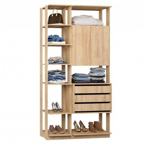 Conjunto Closet da Linha Clothes 9006 - BE Mobiliário Inteligente   Elare