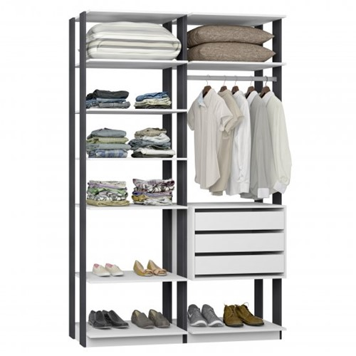 Conjunto Closet da Linha Clothes 9008 - BE Mobiliário Inteligente   Elare