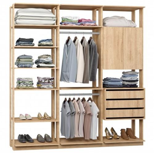 Conjunto Closet da Linha Clothes 9009 - BE Mobiliário Inteligente   Elare