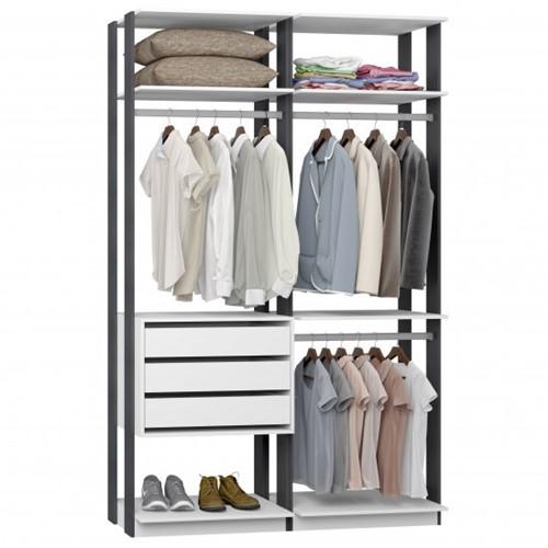 Conjunto Closet da Linha Clothes 9013 - BE Mobiliário Inteligente   Elare