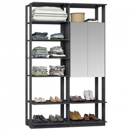 Conjunto Closet da Linha Clothes 9012 C/ Espelho - BE Mobiliário Inteligente   Elare