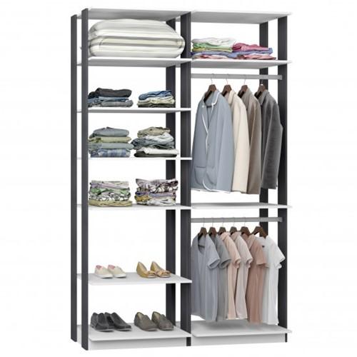 Conjunto Closet da Linha Clothes 9010 - BE Mobiliário Inteligente   Elare