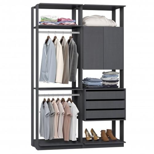 Conjunto Closet da Linha Clothes 9014 - BE Mobiliário Inteligente   Elare