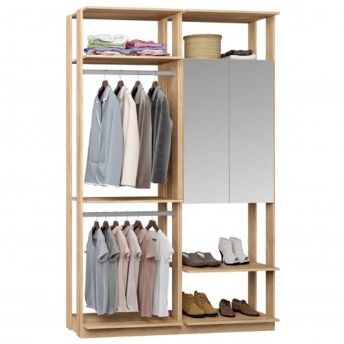 Conjunto Closet da Linha Clothes 9015 C/ Espelho - BE Mobiliário Inteligente   Elare