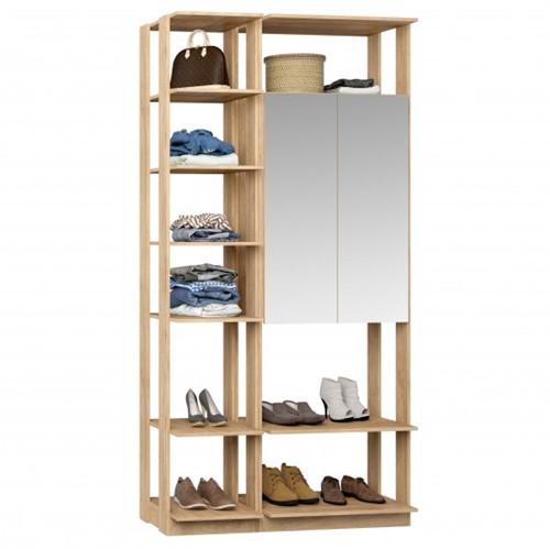 Conjunto Closet da Linha Clothes C/ Espelho 9007 - BE Mobiliário Inteligente   Elare