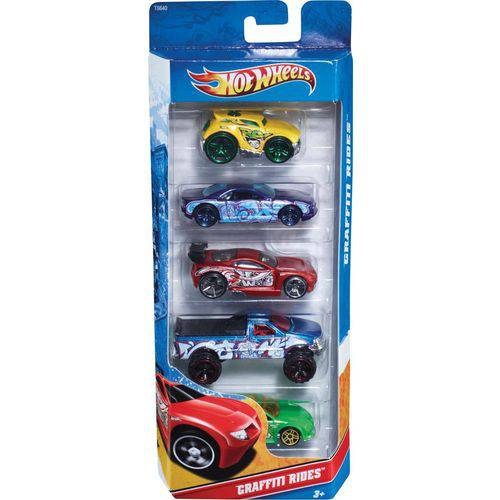 Conjunto com 5 Carrinhos Hot Wheels Mattel Sortidos