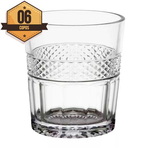 Conjunto com 6 Copos de Whisky 280ml Mirano Bon Gourmet