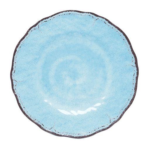 Conjunto com 6 Pratos Rasos Azul Doralice Bon Gourmet