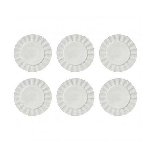 Conjunto com 6 Sousplats de Plástico Branco Kim Bon Gourmet