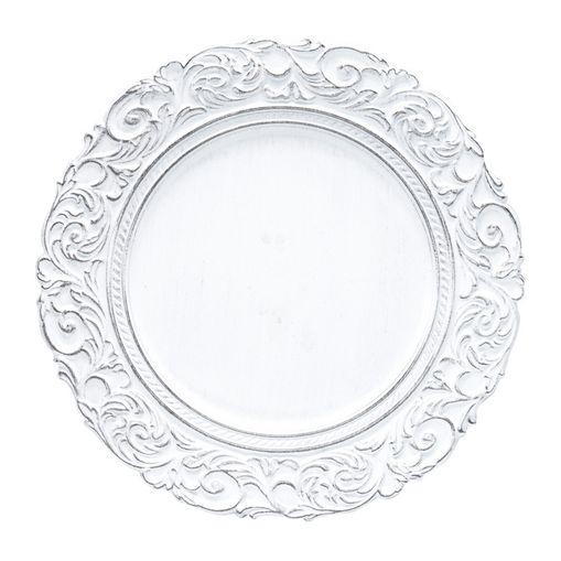 Conjunto com 6 Sousplats de Plástico Branco King Bon Gourmet