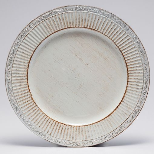 Conjunto com 6 Sousplats de Plástico Branco Pandora Bon Gourmet