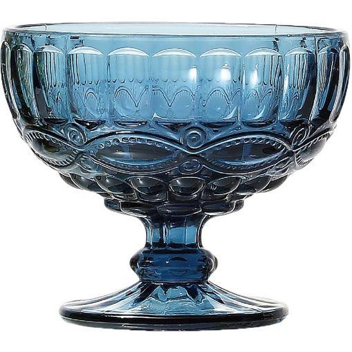 Conjunto com 6 Taças Coupe de Vidro para Champagne 310ml Azuis Libélula 6532 Lyor