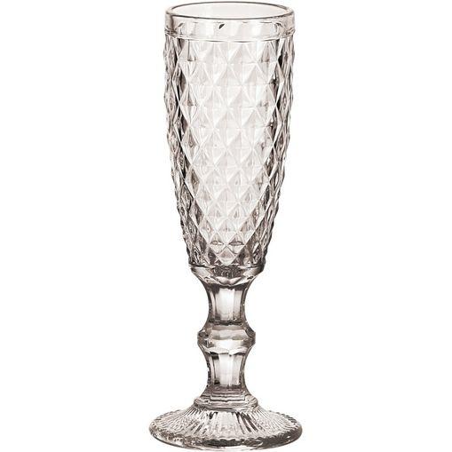 Conjunto com 6 Taças de Vidro para Champagne 140ml Abacaxi 6469 Lyor