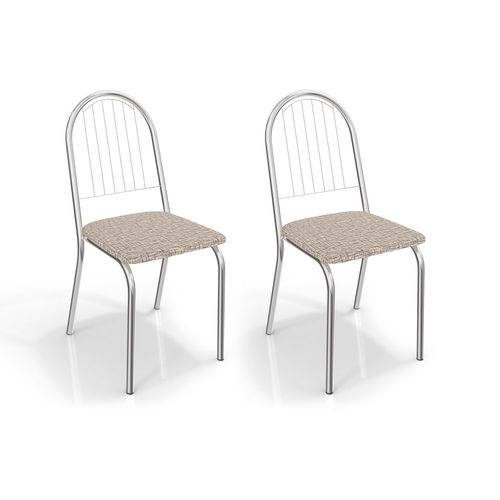 Conjunto com 2 Cadeiras Noruega Corino Marrom Médio