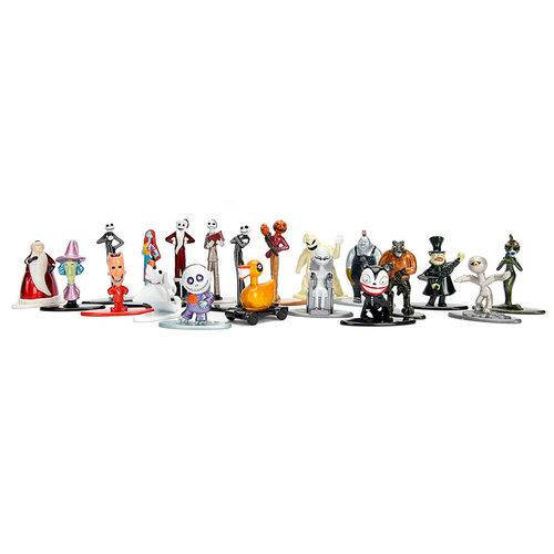 Conjunto de 20 Mini Figuras - Metals Nano - Disney - Tim Burton's - Christmas 25 Years - Dtc