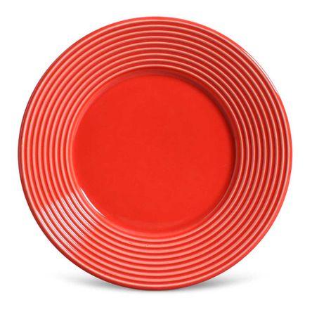 Conjunto de 06 Pratos de Sobremesa Argos Vermelho