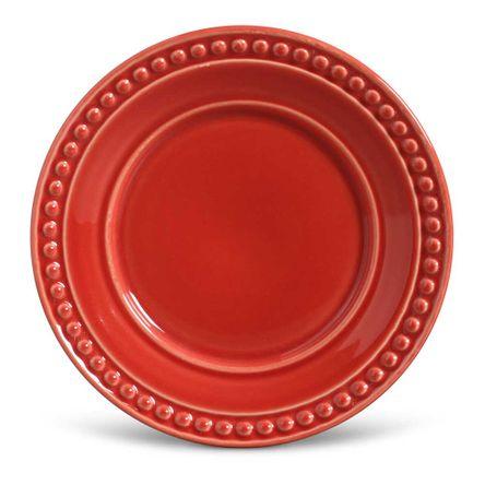 Conjunto de 06 Pratos de Sobremesa Atenas Vermelho
