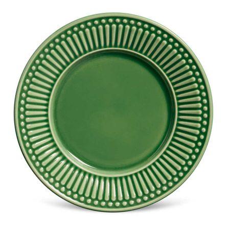 Conjunto de 06 Pratos de Sobremesa Roma Verde Sálvia