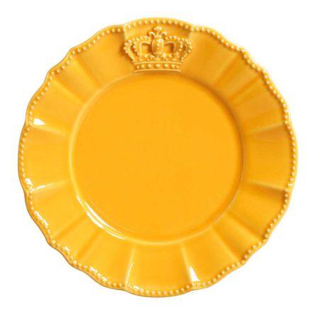Conjunto de 06 Pratos de Sobremesa Windsor Mostarda