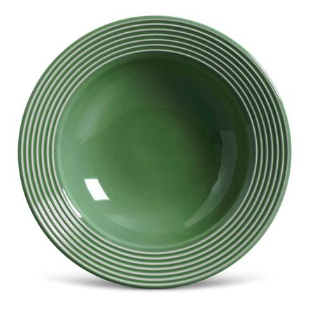 Conjunto de 06 Pratos Fundos Argos Verde Sálvia