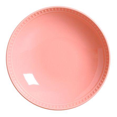 Conjunto de 06 Pratos Fundos Sevilha Rosa